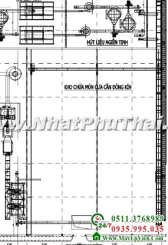 Thiết kế và thi công kho xá liệu dạng bột, hạt - Hình 02